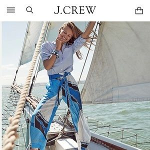 Tie-waist pant in Ratti regatta print